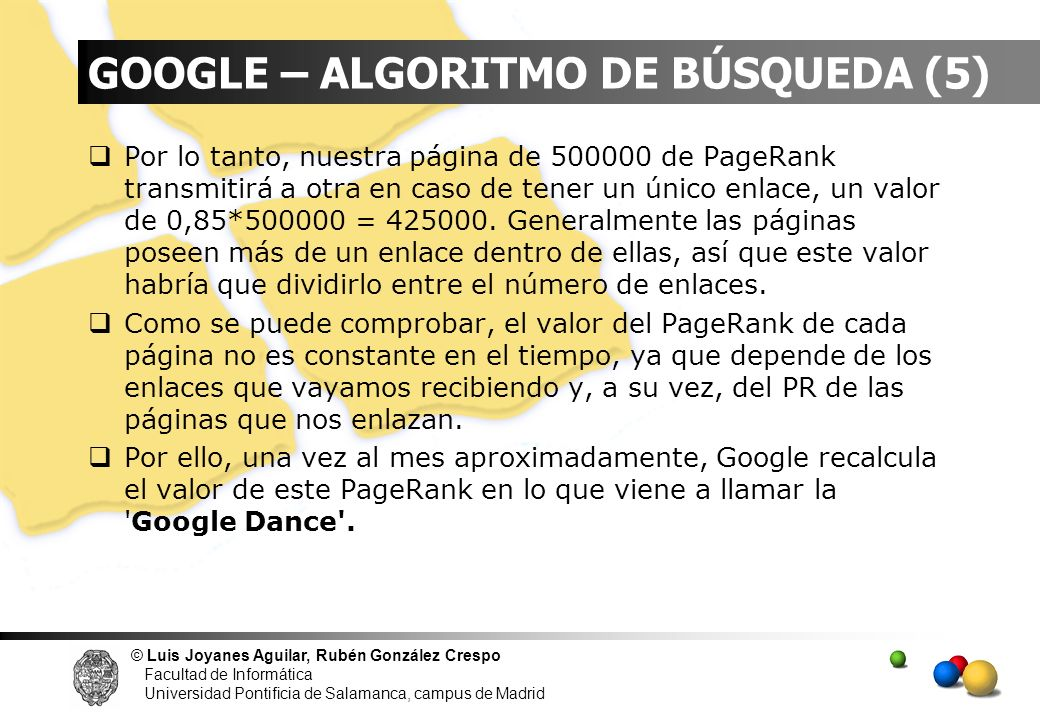 GOOGLE – ALGORITMO DE BÚSQUEDA (5)