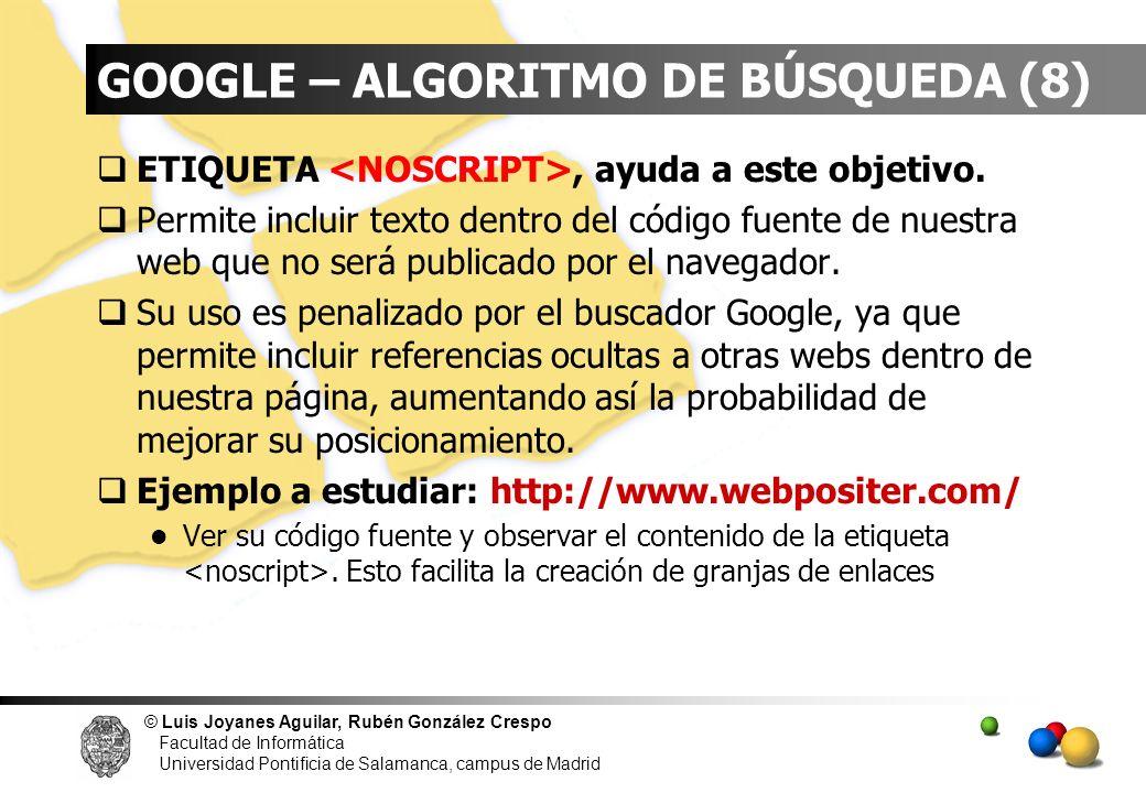 GOOGLE – ALGORITMO DE BÚSQUEDA (8)
