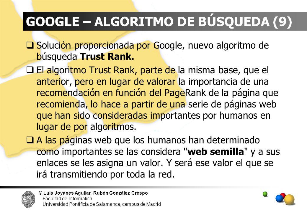 GOOGLE – ALGORITMO DE BÚSQUEDA (9)