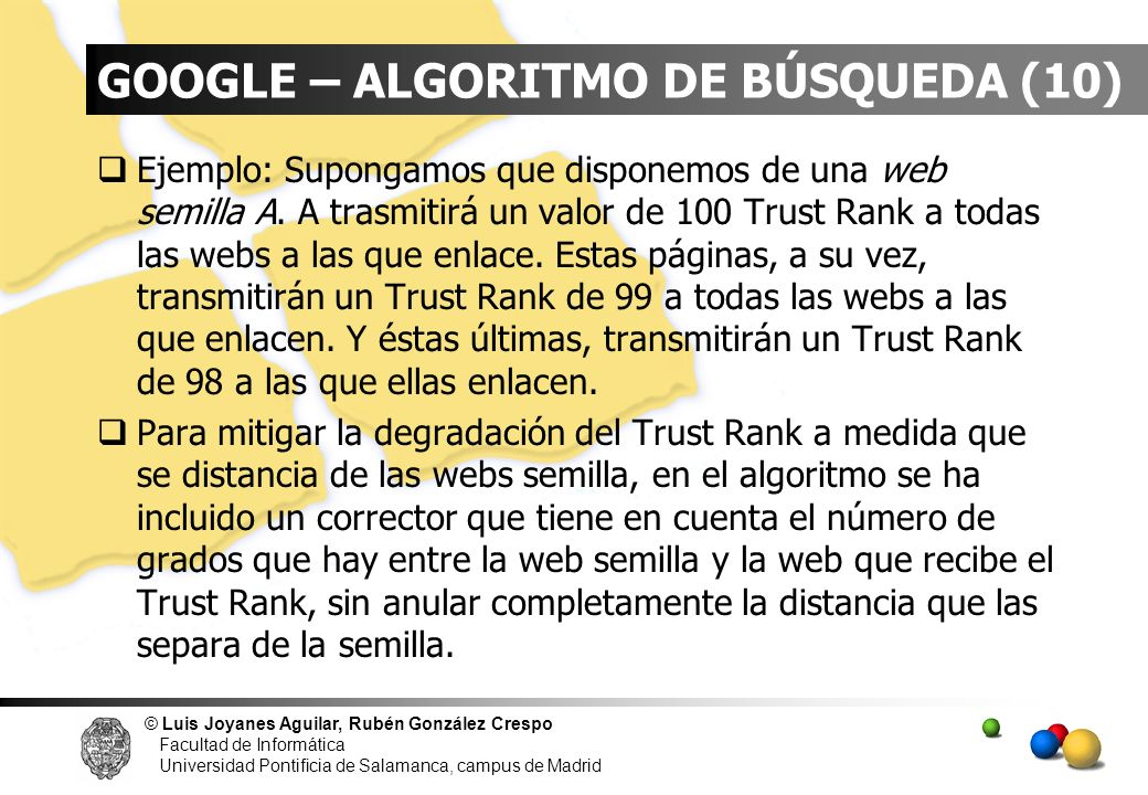 GOOGLE – ALGORITMO DE BÚSQUEDA (10)