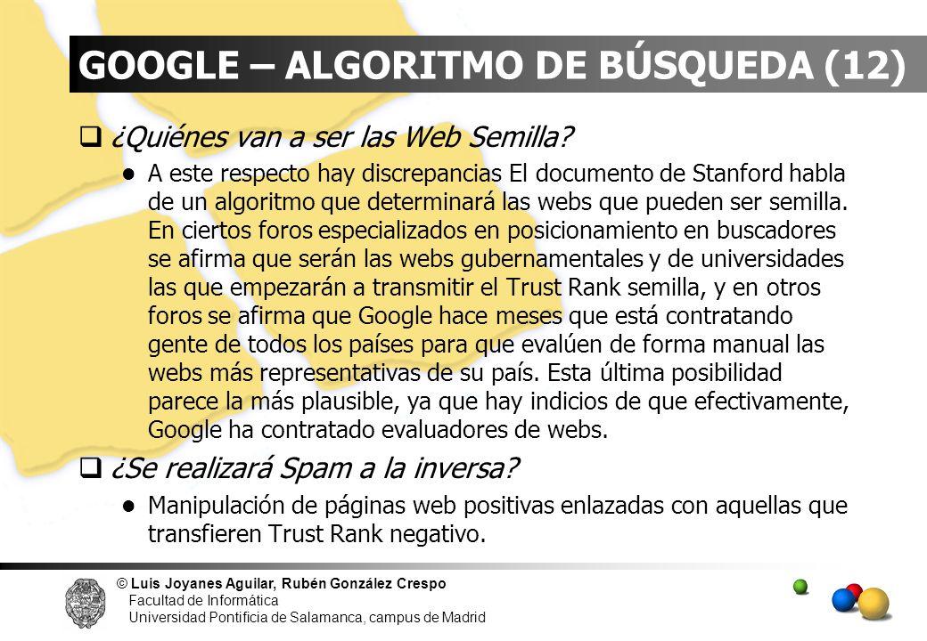 GOOGLE – ALGORITMO DE BÚSQUEDA (12)
