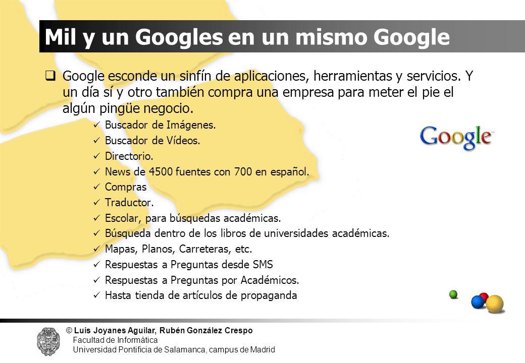 Mil y un Googles en un mismo Google