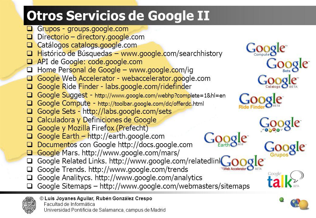 Otros Servicios de Google II
