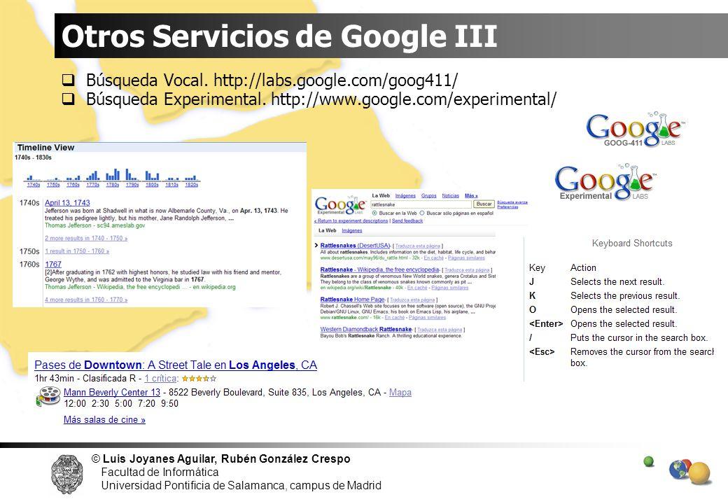 Otros Servicios de Google III