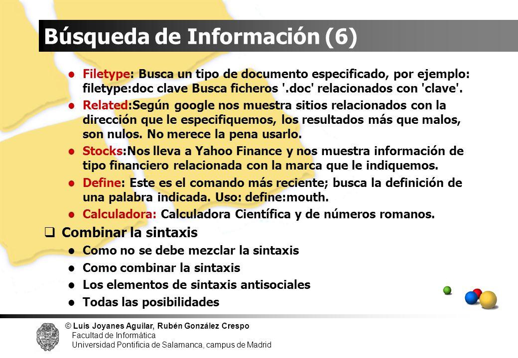 Búsqueda de Información (6)