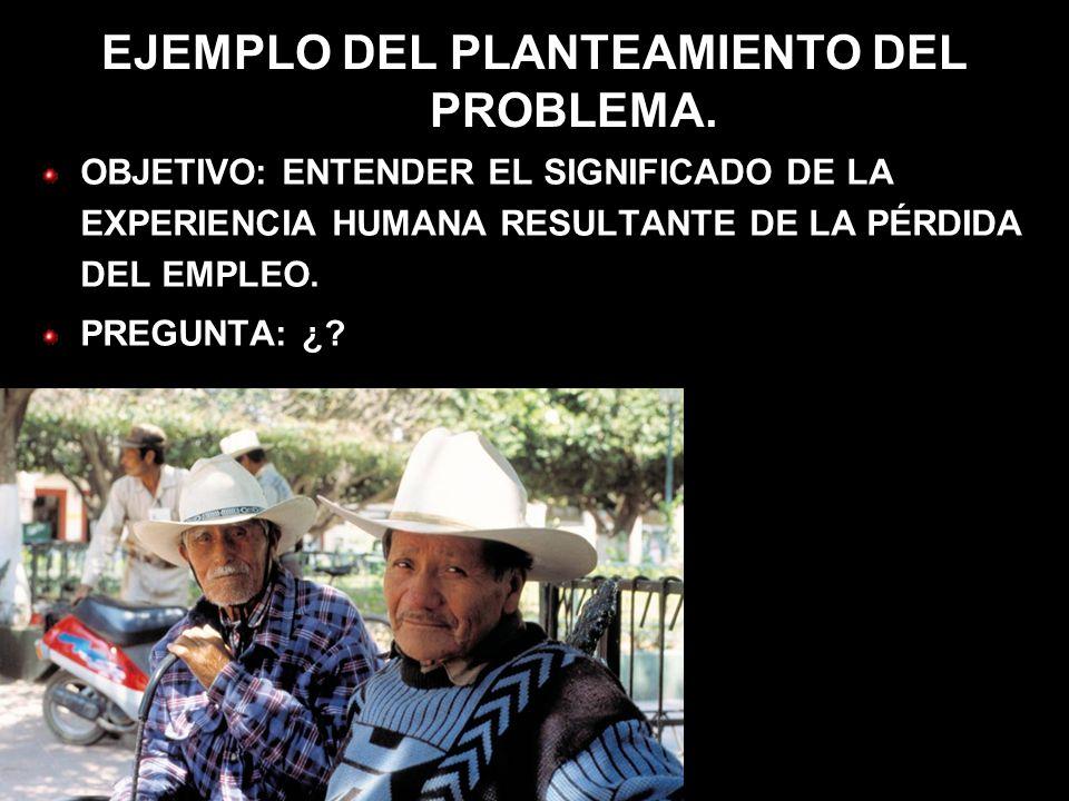 EJEMPLO DEL PLANTEAMIENTO DEL PROBLEMA.