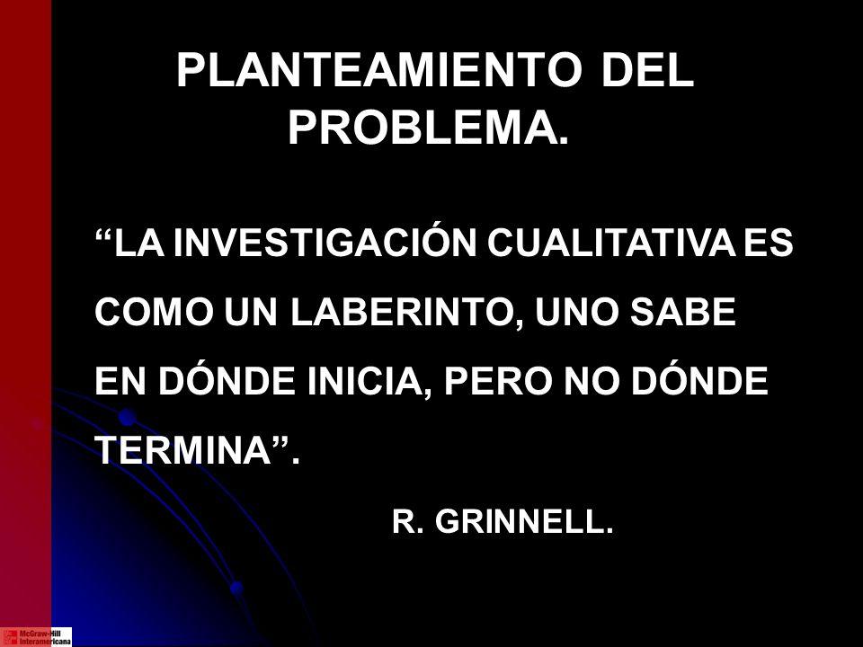 PLANTEAMIENTO DEL PROBLEMA.