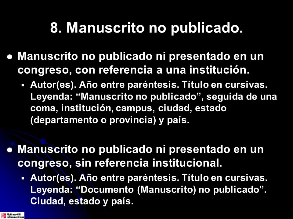 8. Manuscrito no publicado.