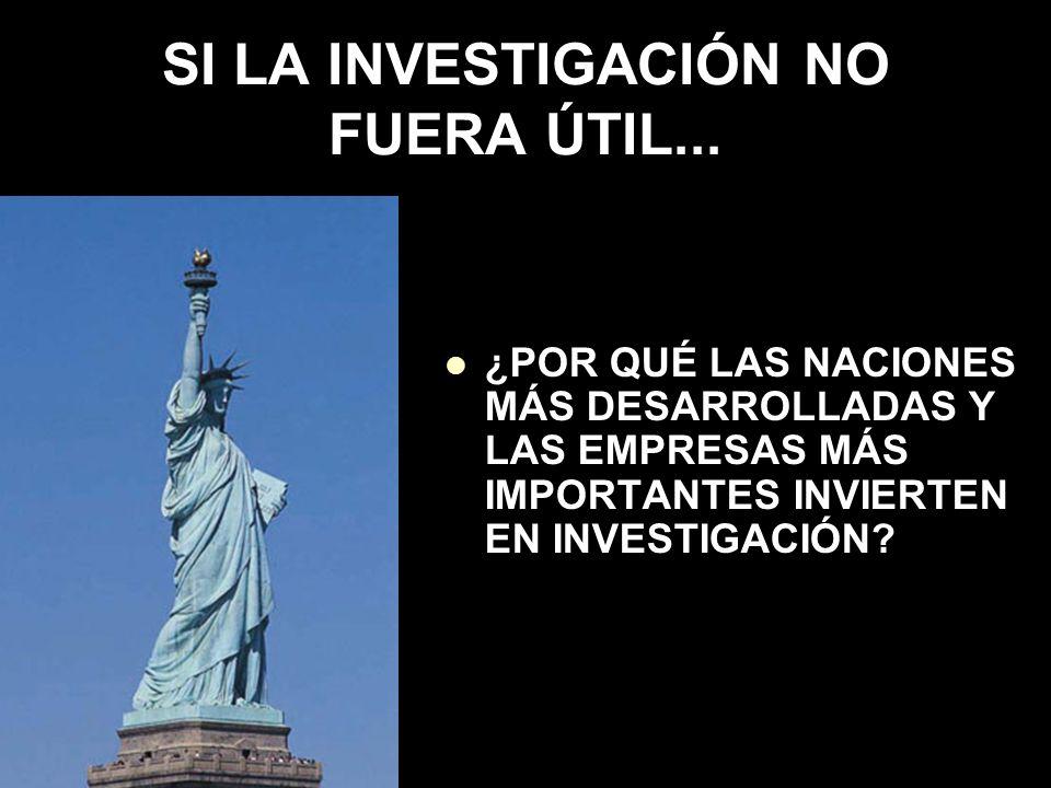SI LA INVESTIGACIÓN NO FUERA ÚTIL...