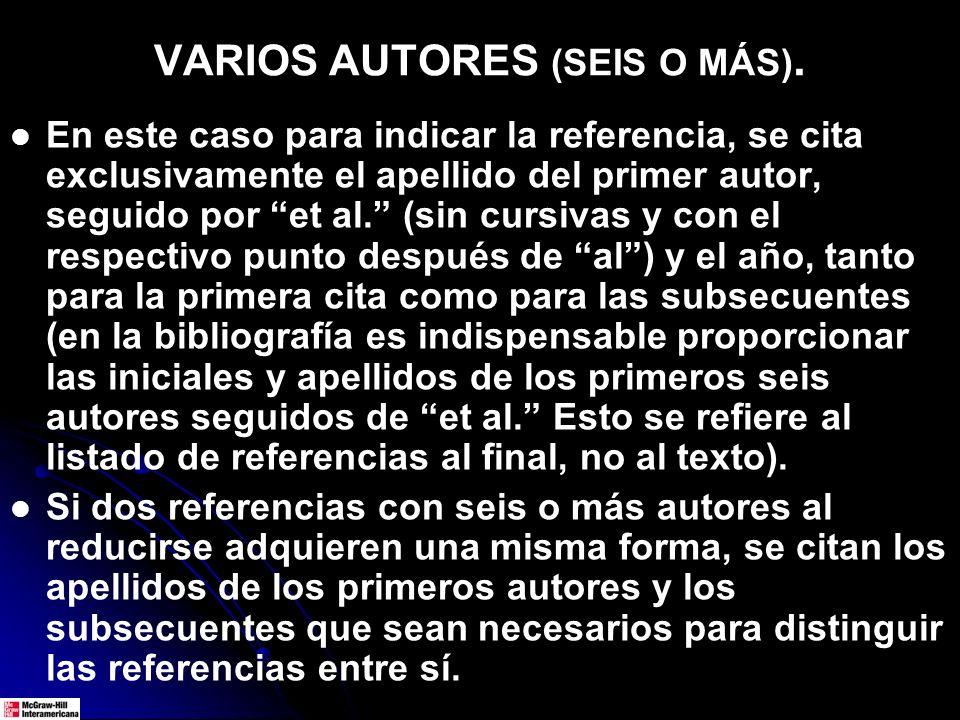 VARIOS AUTORES (SEIS O MÁS).
