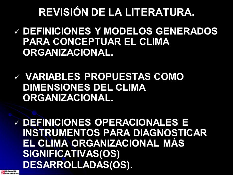 REVISIÓN DE LA LITERATURA.