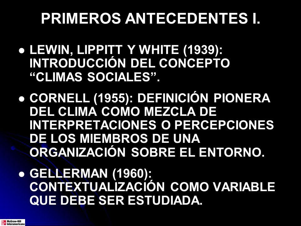 PRIMEROS ANTECEDENTES I.