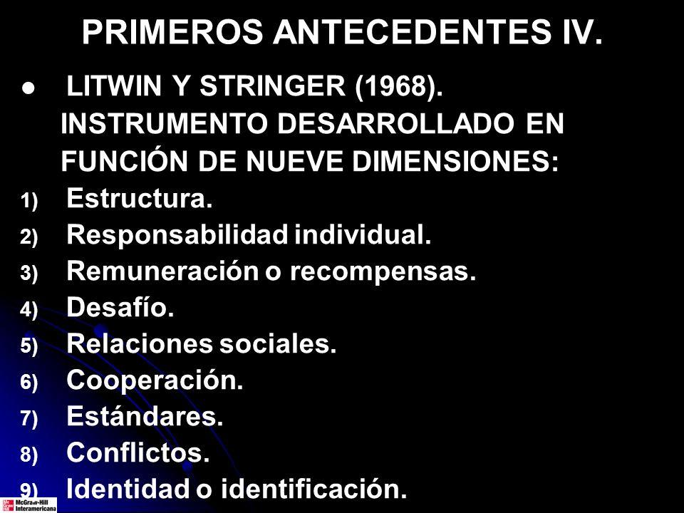 PRIMEROS ANTECEDENTES IV.