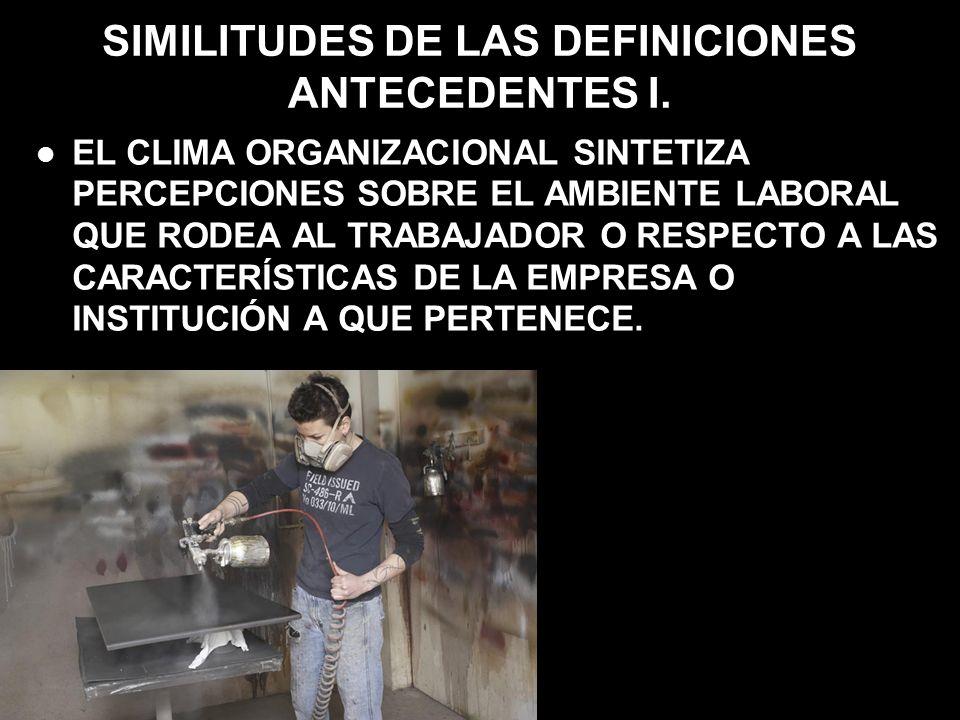 SIMILITUDES DE LAS DEFINICIONES ANTECEDENTES I.