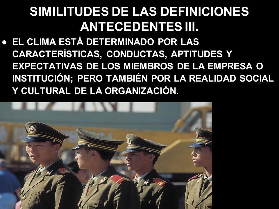 SIMILITUDES DE LAS DEFINICIONES ANTECEDENTES III.