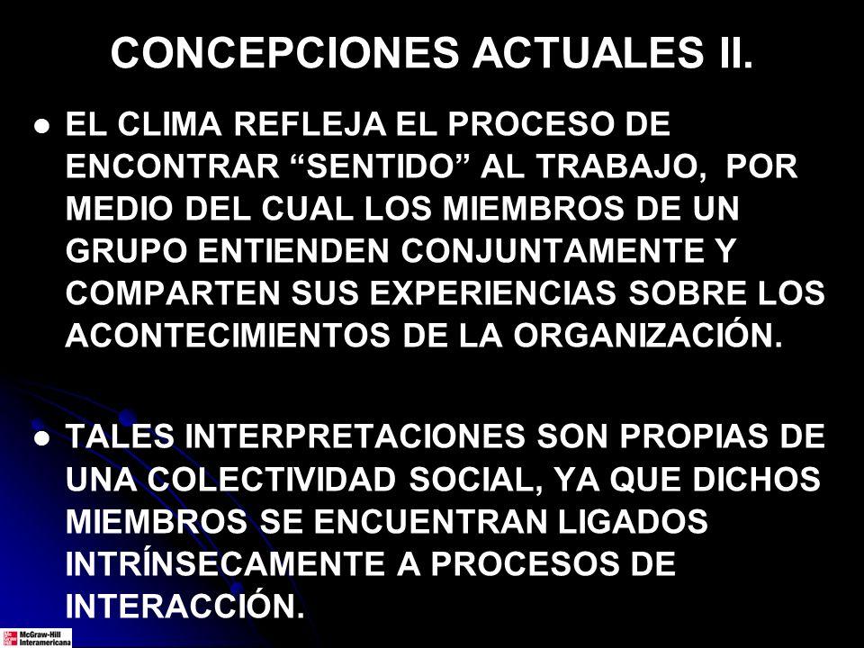CONCEPCIONES ACTUALES II.