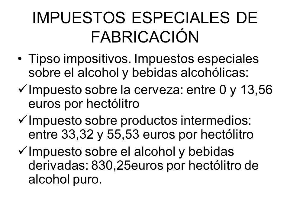 IMPUESTOS ESPECIALES DE FABRICACIÓN