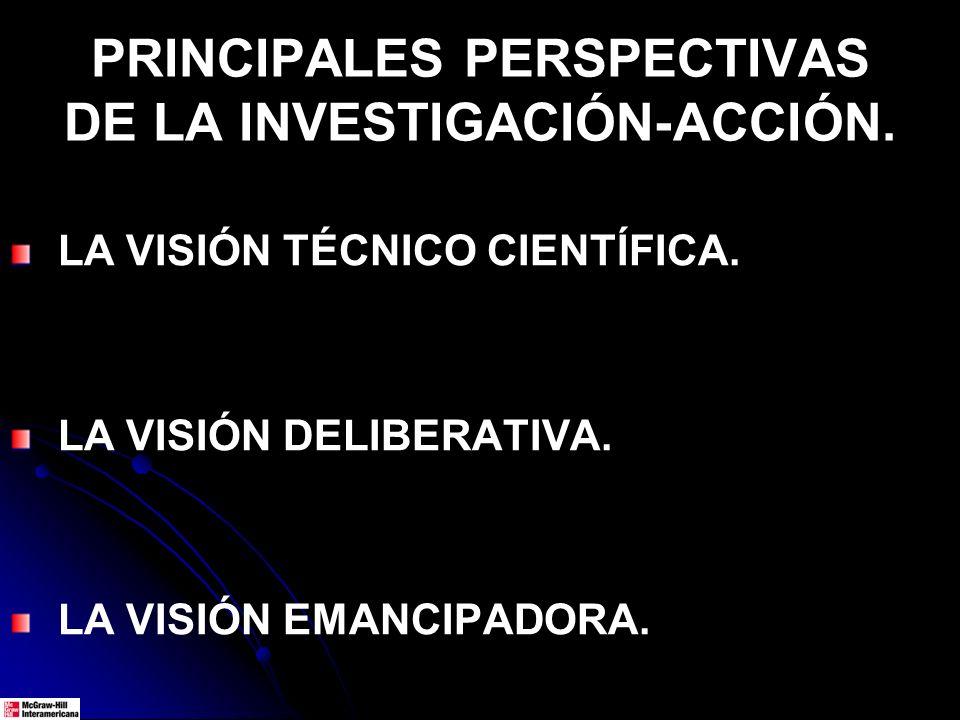 PRINCIPALES PERSPECTIVAS DE LA INVESTIGACIÓN-ACCIÓN.