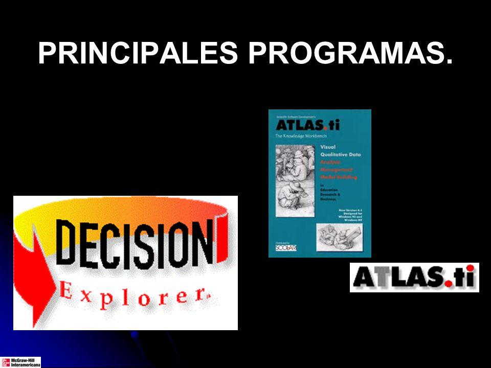 PRINCIPALES PROGRAMAS.