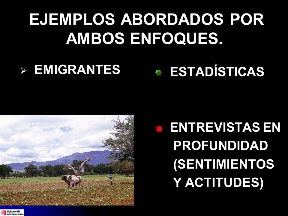 EJEMPLOS ABORDADOS POR AMBOS ENFOQUES.