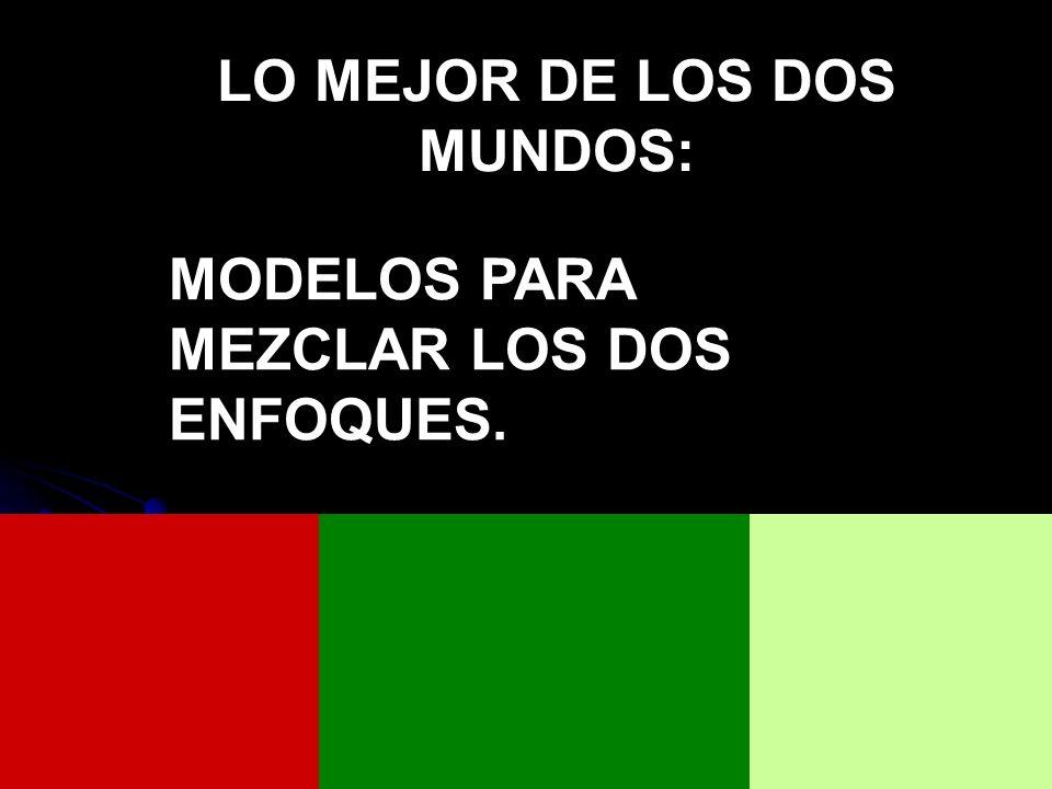 LO MEJOR DE LOS DOS MUNDOS: