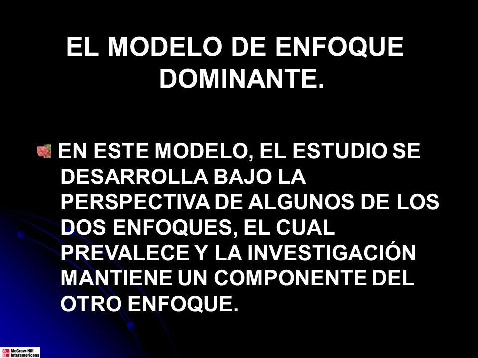 EL MODELO DE ENFOQUE DOMINANTE.
