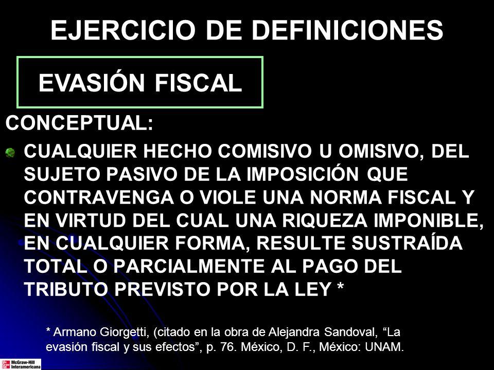 EJERCICIO DE DEFINICIONES