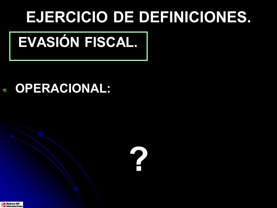 EJERCICIO DE DEFINICIONES.