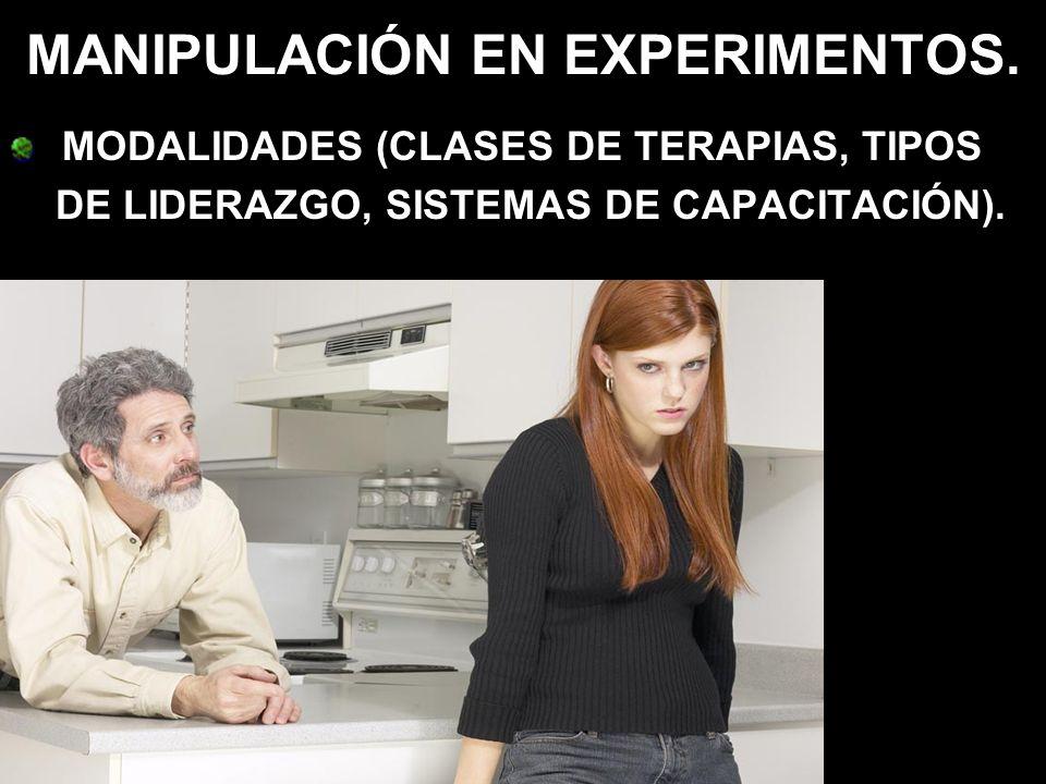MANIPULACIÓN EN EXPERIMENTOS.