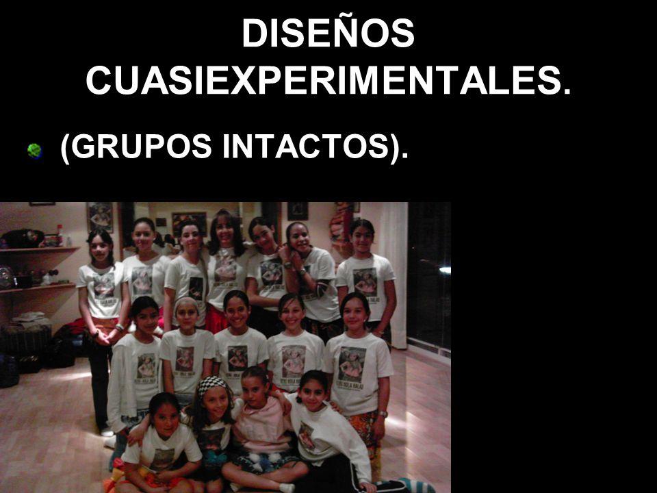 DISEÑOS CUASIEXPERIMENTALES.