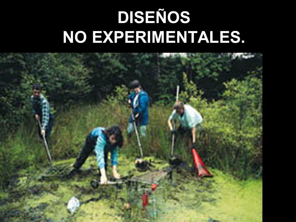 DISEÑOS NO EXPERIMENTALES.