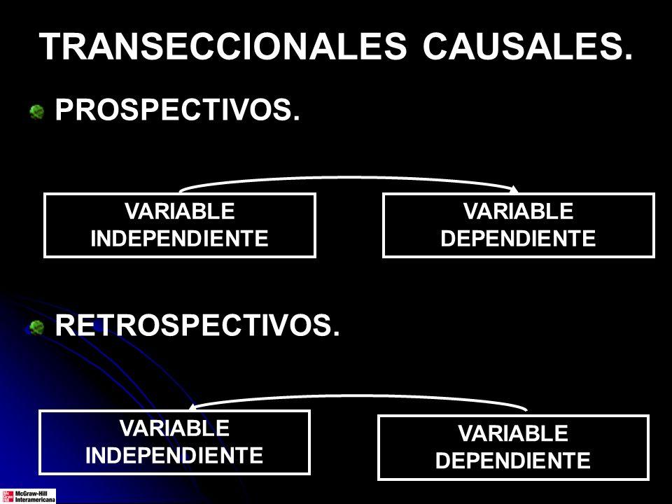 TRANSECCIONALES CAUSALES.