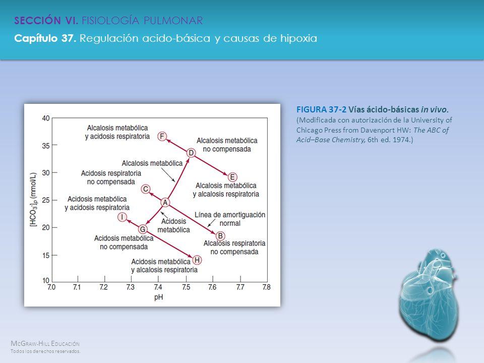 FIGURA 37-2 Vías ácido-básicas in vivo