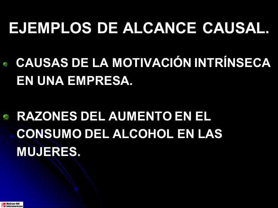 EJEMPLOS DE ALCANCE CAUSAL.