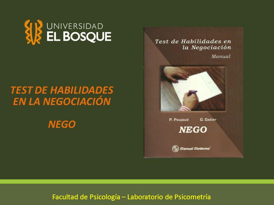TEST DE HABILIDADES EN LA NEGOCIACIÓN NEGO