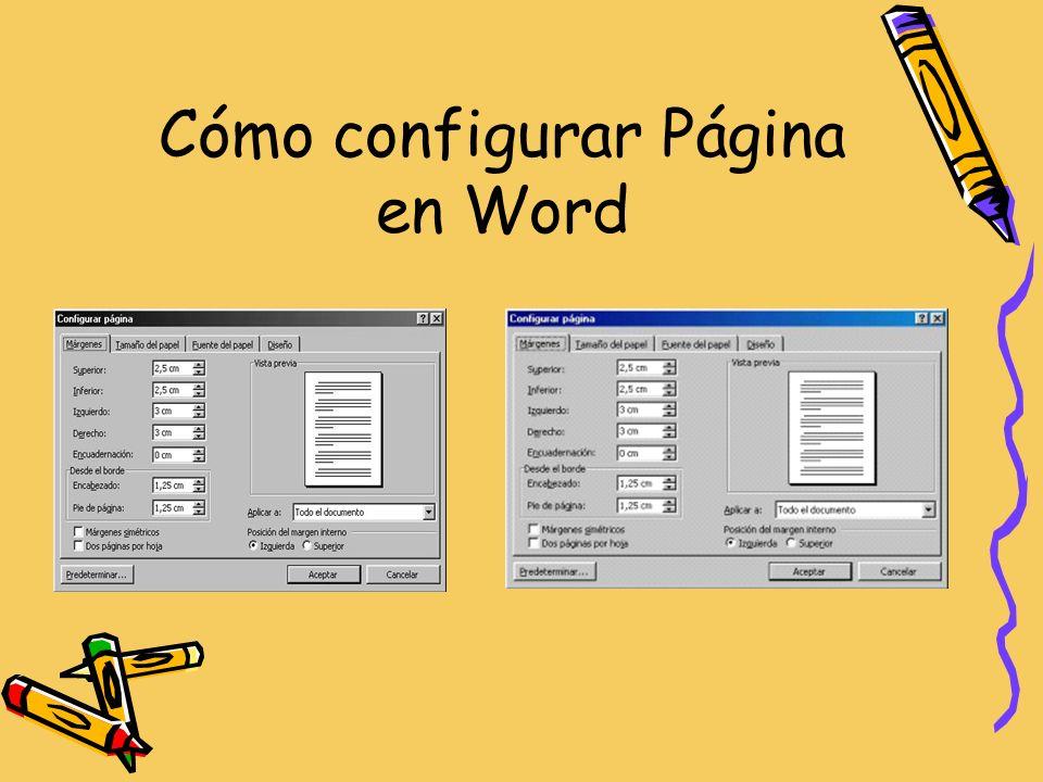 Cómo configurar Página en Word