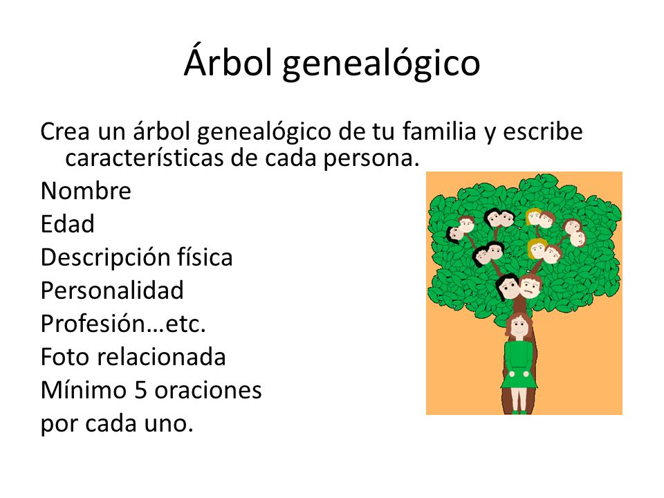 Cap tulo 6 rbol geneal gico ppt video online descargar for Arboles con sus nombres y caracteristicas