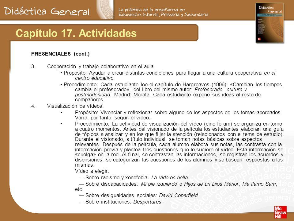 Capítulo 17. Actividades PRESENCIALES (cont.)