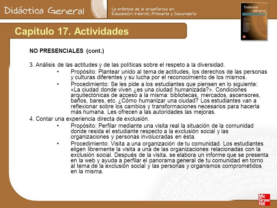 Capítulo 17. Actividades NO PRESENCIALES (cont.)