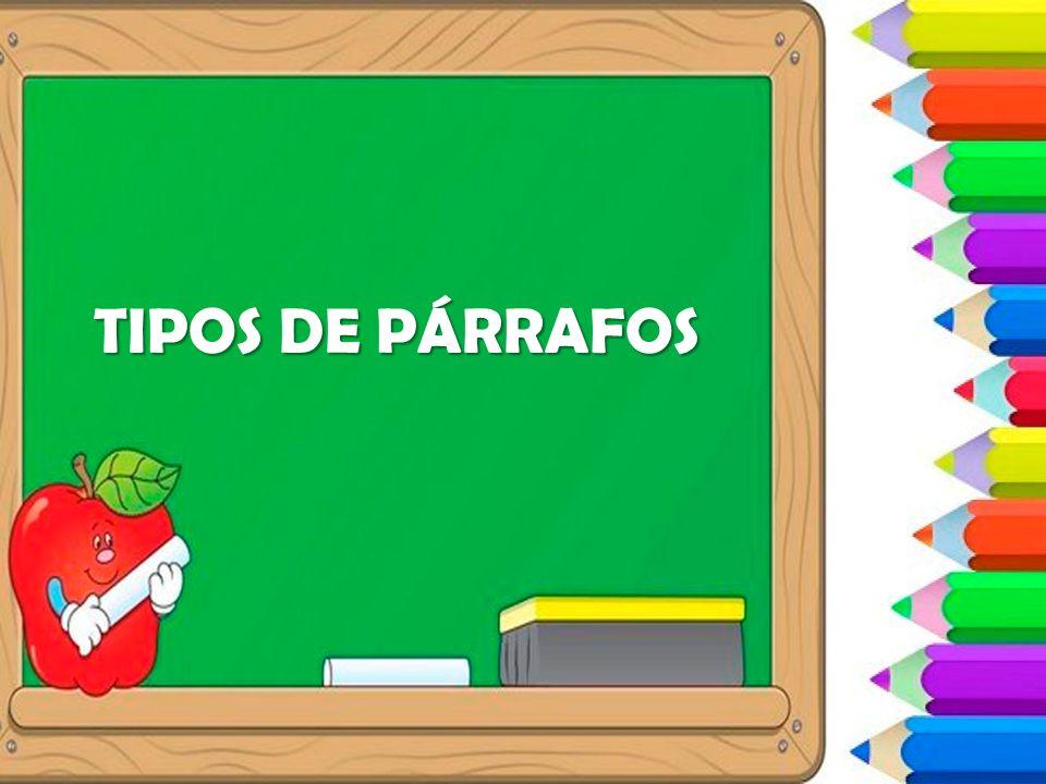TIPOS DE PÁRRAFOS
