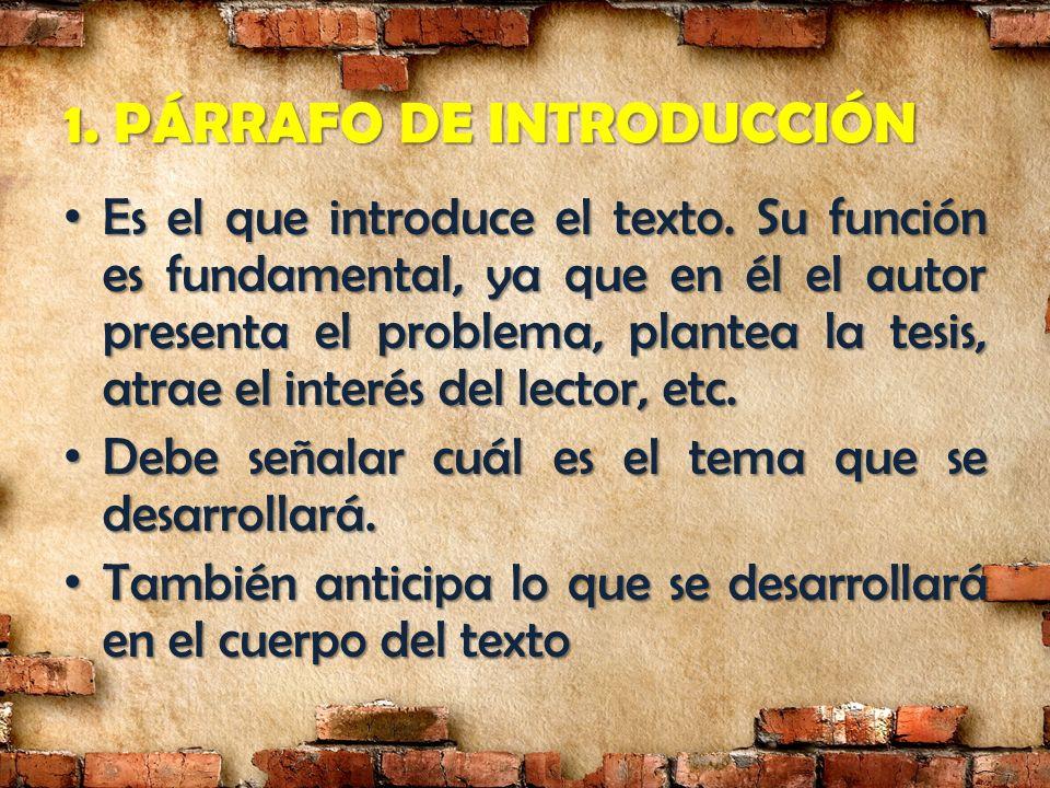 1. PÁRRAFO DE INTRODUCCIÓN