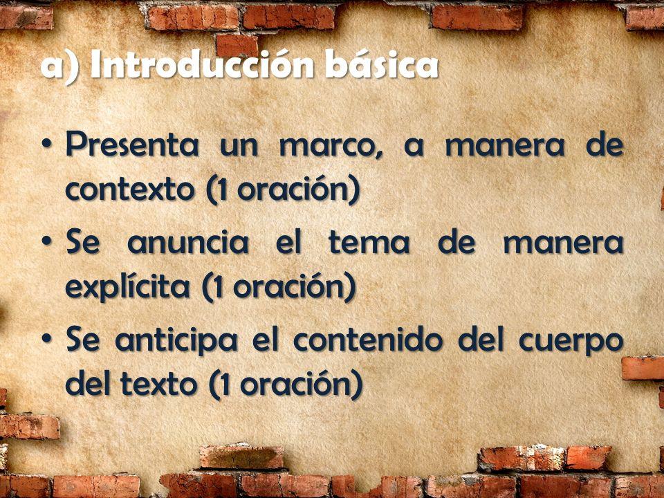 a) Introducción básica