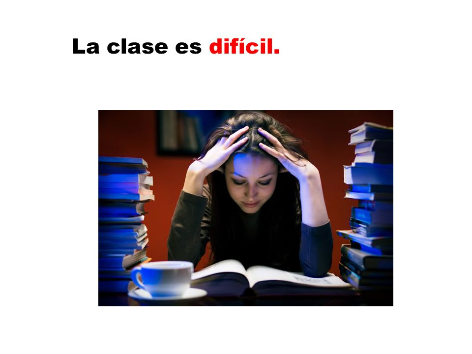 La clase es difícil.