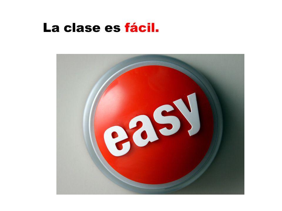 La clase es fácil.