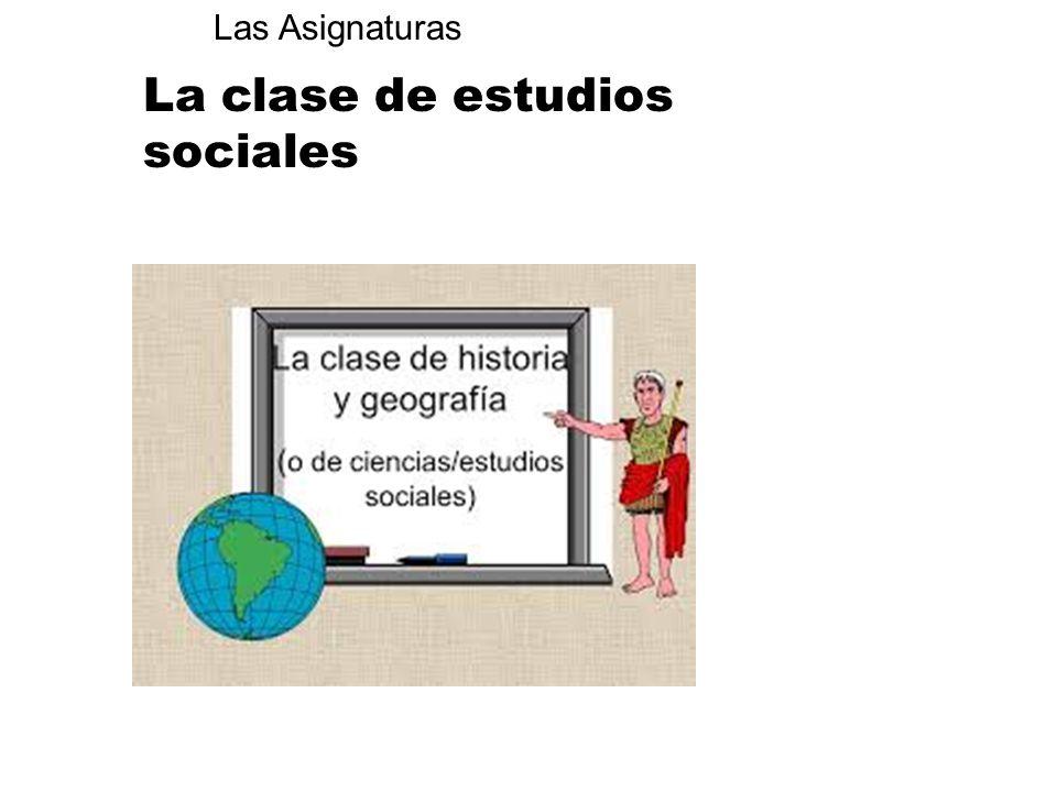 La clase de estudios sociales