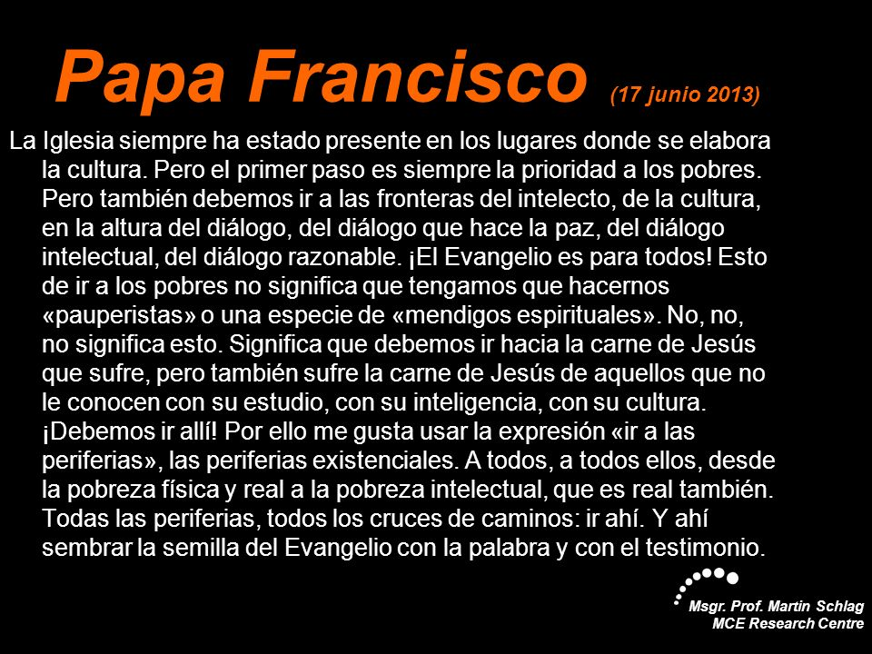 Papa Francisco (17 junio 2013)