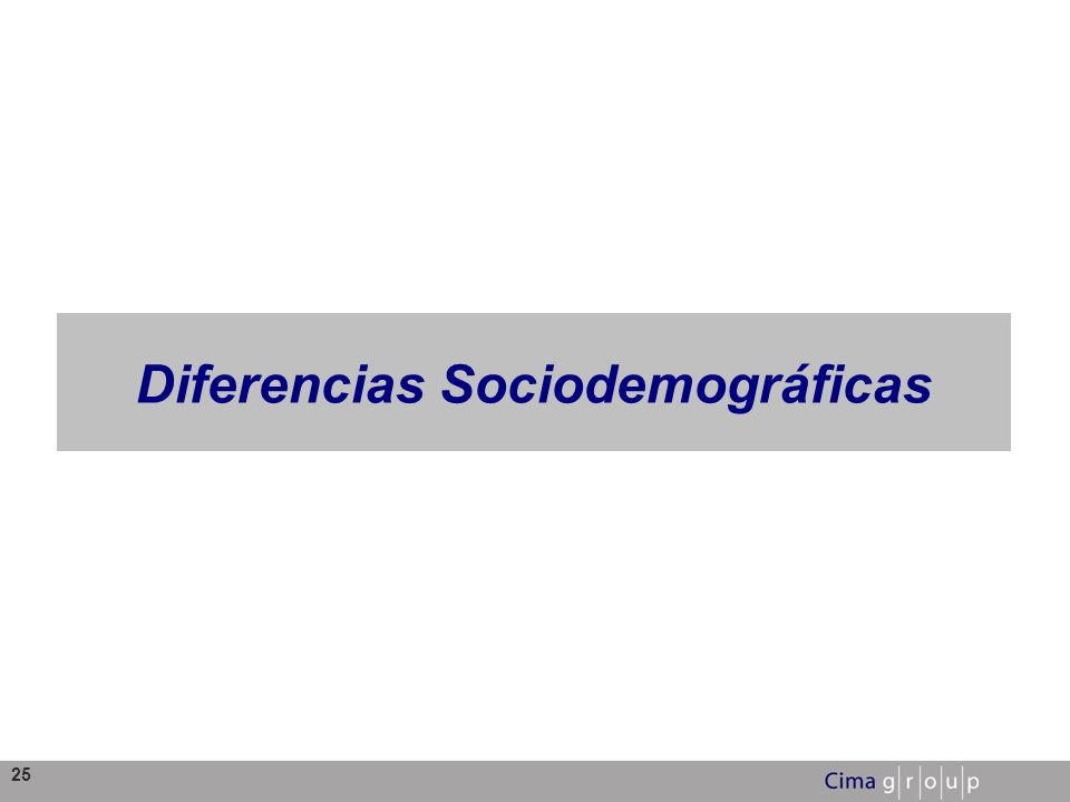 Diferencias Sociodemográficas