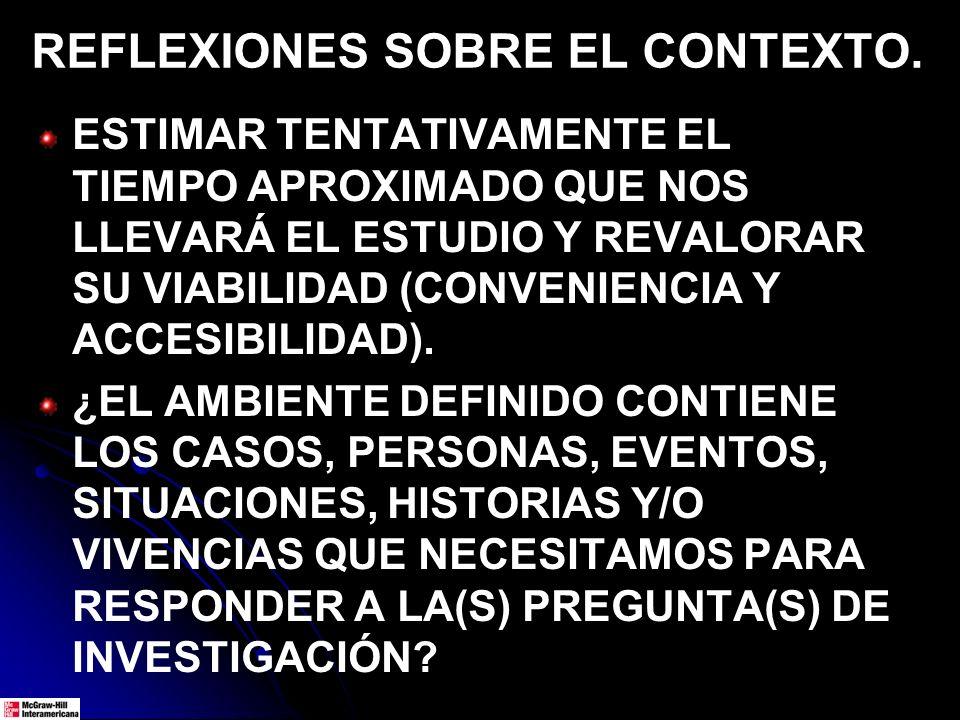 REFLEXIONES SOBRE EL CONTEXTO.