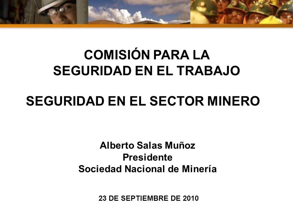 COMISIÓN PARA LA SEGURIDAD EN EL TRABAJO SEGURIDAD EN EL SECTOR MINERO