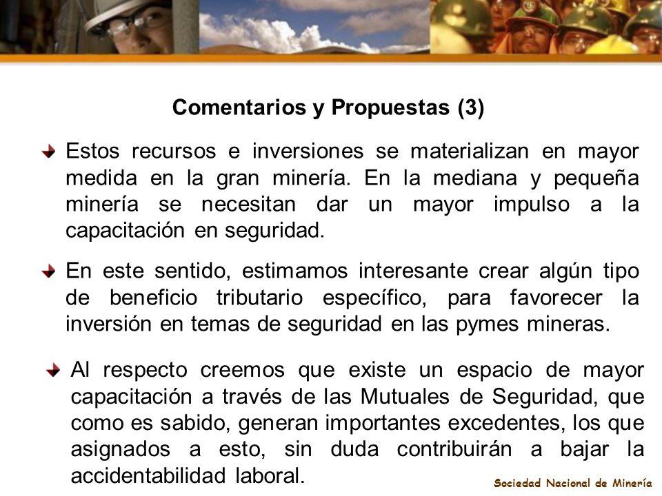 Comentarios y Propuestas (3) Sociedad Nacional de Minería